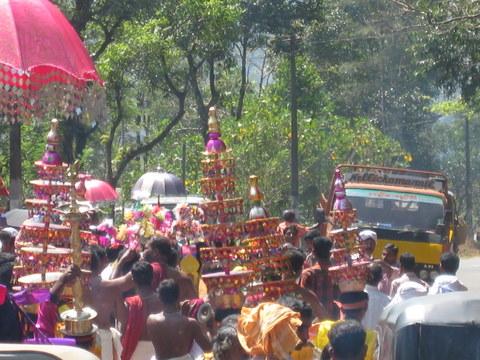 festival in road