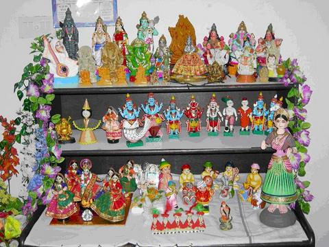 navrathri idols arranged.jpg