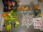 saraswati pooja laid out.jpg
